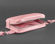 Сумка поясная Dropbag кожаная (розовая), фото 4