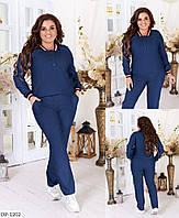 Джинсовый прогулочный женский костюм больших размеров 48-62 арт 4076