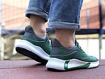 Мужские летние кроссовки Adidas,зеленые,сетка, фото 3