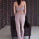 Пижама женская какао. Штаны и топ, фото 4