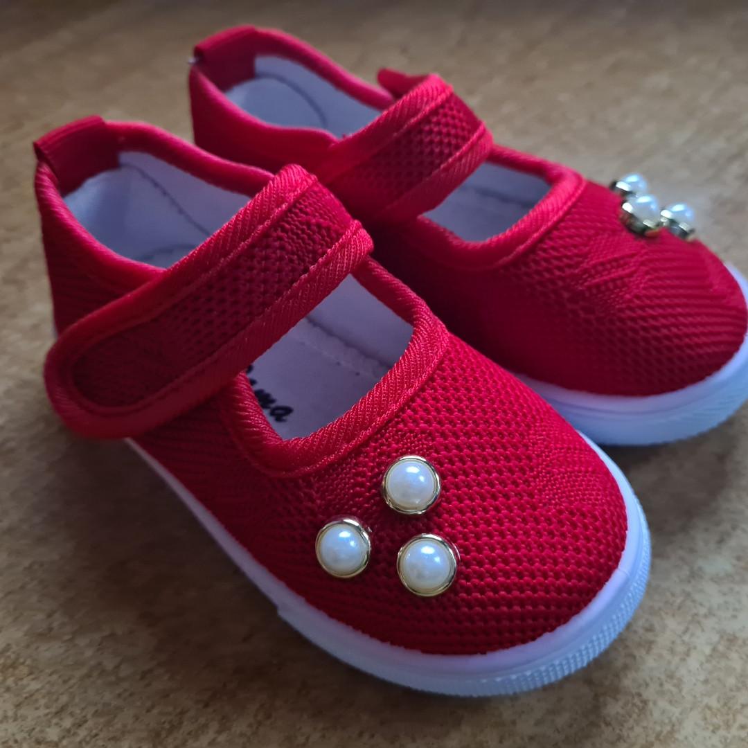 Текстильные туфли-слипоны  размер 25-15 см.