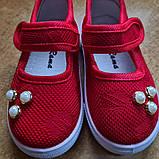 Текстильные туфли-слипоны  размер 25-15 см., фото 3