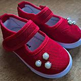 Текстильные туфли-слипоны  размер 25-15 см., фото 4