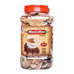 MacCoffee Оригинал 3 в 1 напиток кофейный 50 пакетиков в пластиковой банке