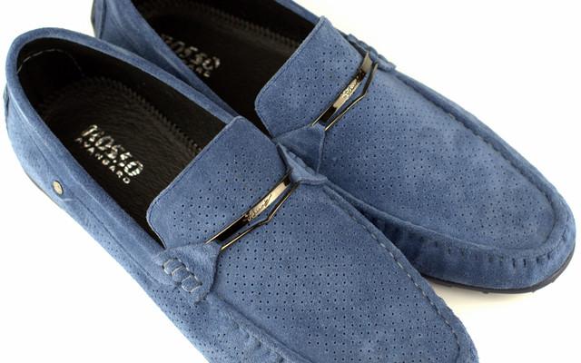 Летние светло-синие мокасины перфорация мужская обувь больших размеров Rosso Avangard ETHEREAL Sky Blu Vel BS