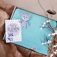 Плед М'ятний дитячий в'язаний HappyLittleFox, фото 1