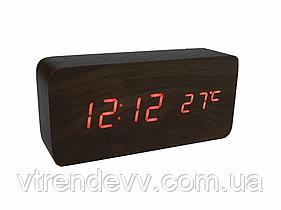 Часы электронные настольные с датчиком температуры LED VST-862-3 с оранжевой подсветкой