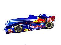Кровать-машинка Формула 1 (80х180 см) Синий (F2 Red Bull) без подъемного механизма