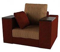 Кресло Гранд (Grand) с подушками коричневый/бежевый (ППУ пенополиуретан)