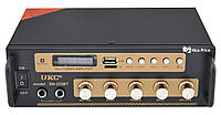 Усилитель звука UKC SN-222BT MP3 FM Bluetooth Black/Gold (4841)