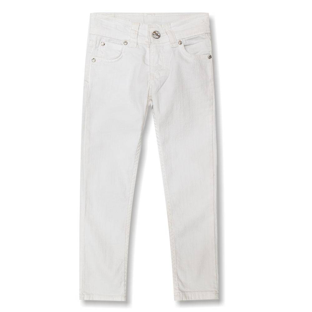 Брюки для девочек Terry 116  белые 5012