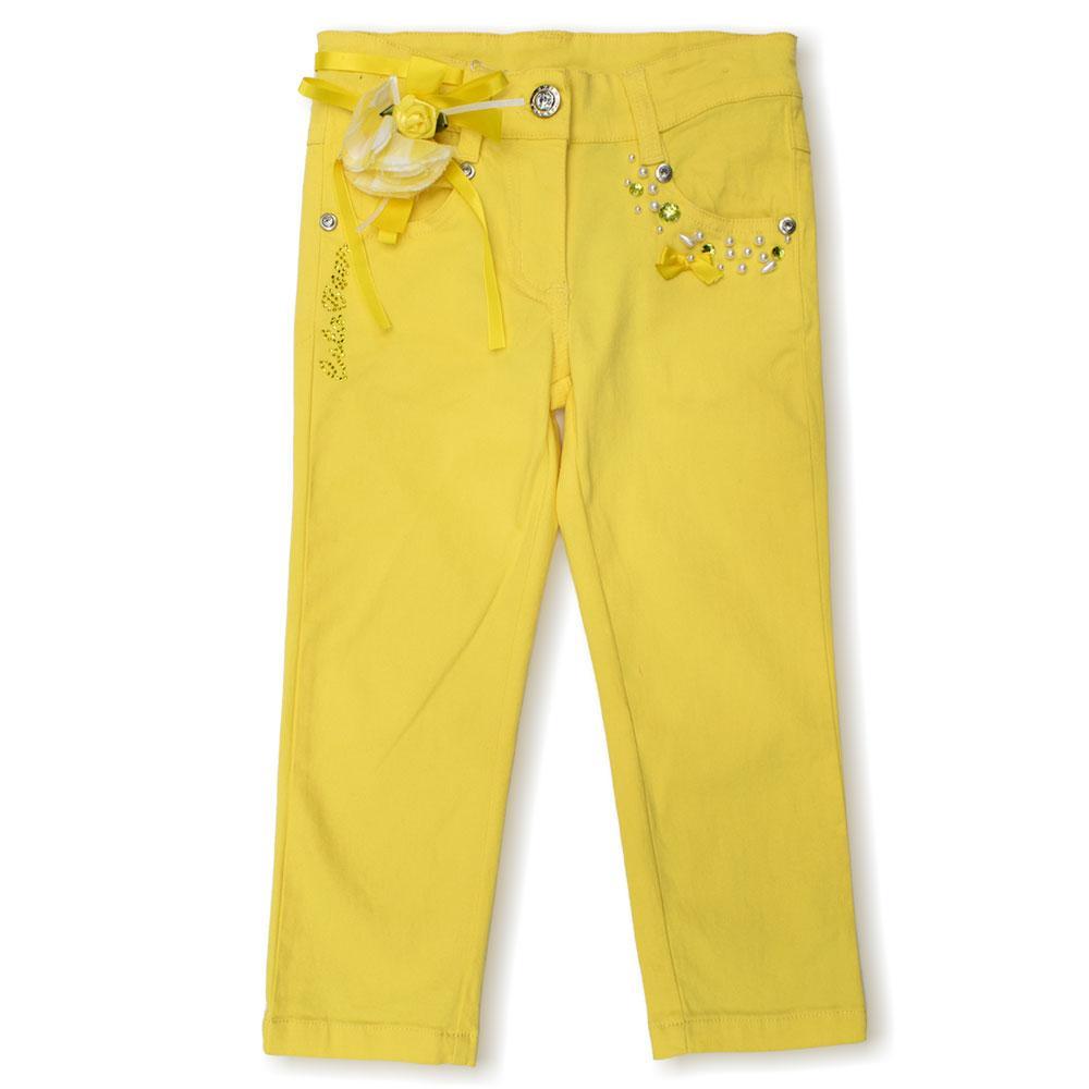 Брюки для девочек Colabear 90  желтые 190293