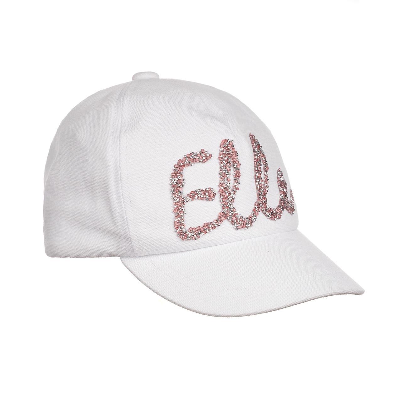 Бейсболка  для девочек elle - белая GIAMO  (р. 48-56)   YLG07
