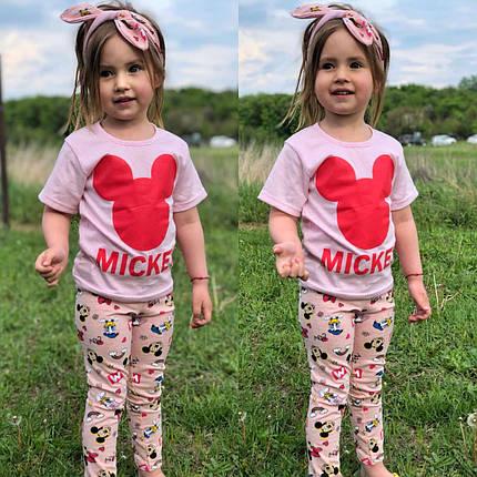 Комплект лосины+футболка+повязка, фото 2