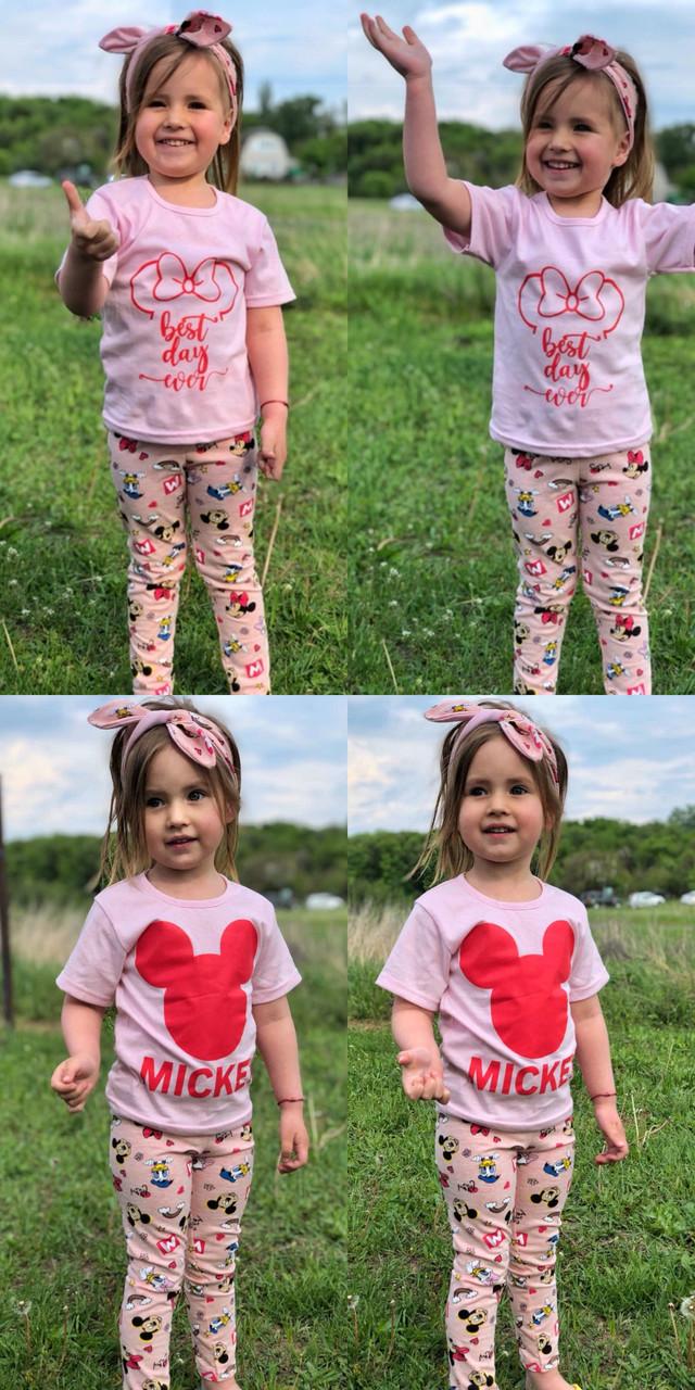 Комплект лосины+футболка+повязка