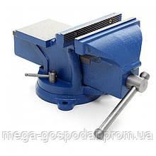 Тиски слесарные поворотные 200мм,слесарные тиски 200мм синие