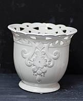 Горщик-ваза фафоровый білий