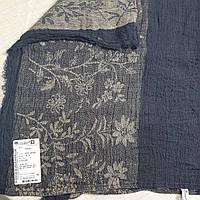 Легкая Льняная Шаль с цветочным узором, фото 1