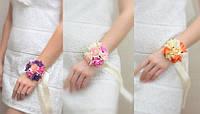 Бутоньерка с цветами  на руку розочки(разные цвета), фото 1
