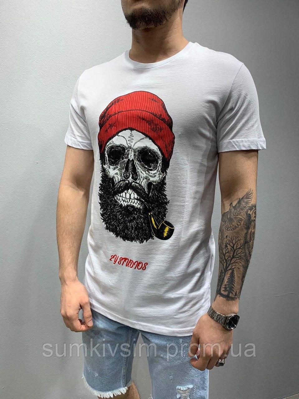 Стильная мужская футболка Череп