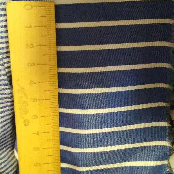 Сорочкова тканина смужка 100% бавовна