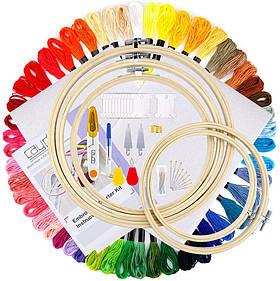 Набор для вышивания крестом DIY 50 цветов Пяльца инструменты и аксессуары для вышивки наборы для вышивания