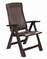 Кресло GOLD раскладное коричневое