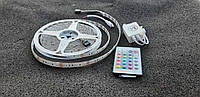 LED лента  SMD5050-60 12V IP20 Стандарт  RGB  5метрів лента пультом