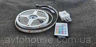 LED стрічка SMD5050-60 12V IP65 Стандарт RGB 5метрів стрічка пультом