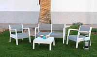 Набор садовой мебели MIAMI серый