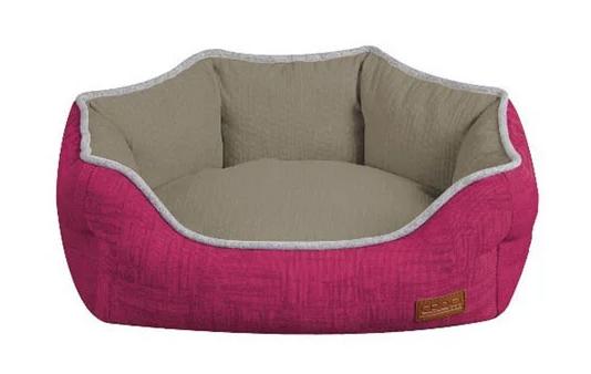Диван для животного COZY FUXIA, овальный, розово-серый, 60x50x20см