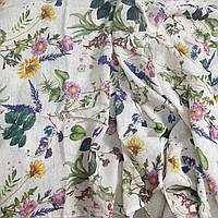 Легкий Льняной Цветочный Шарф, фото 1