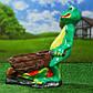 Садова жаба з возом 44 см гіпс, фото 2