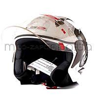 """Шлем открытый """"LS2"""" (DRAGON,белый глянцевый)"""
