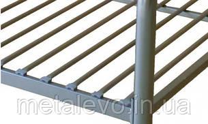 Металлическая кровать с изножьем ТУРИН -2 ТМ Метакам, фото 2