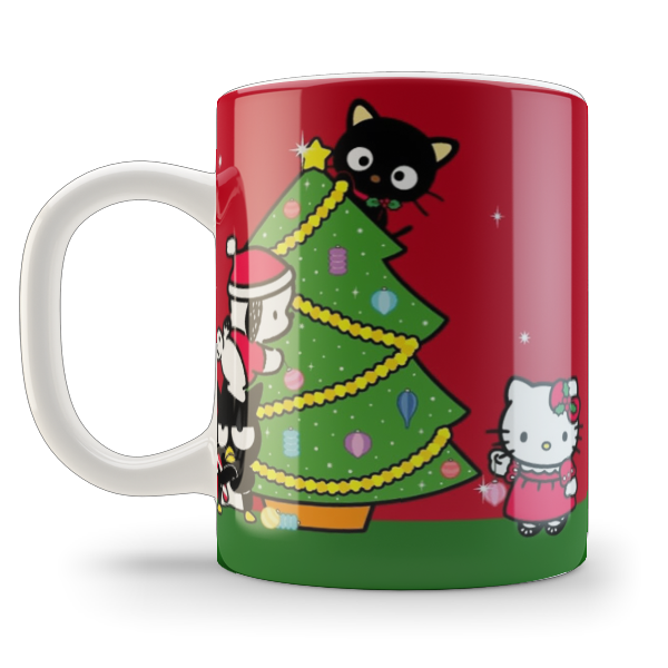 Кружка чашка Hello Kitty, Merry Christmas