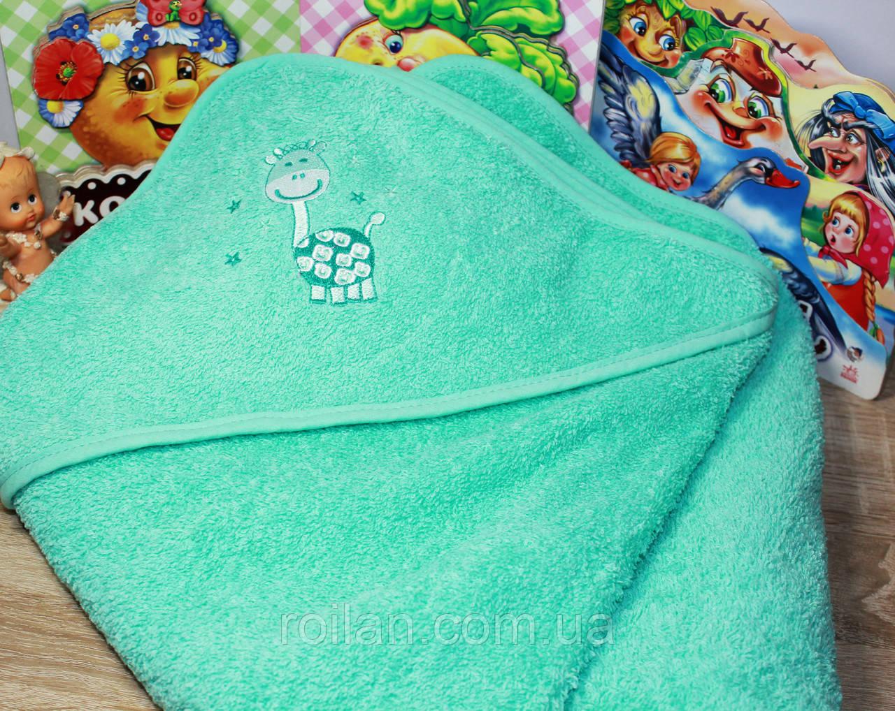 Детский капюшон для купания Жираф