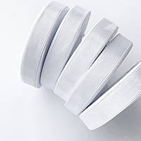 Сатиновая лента (12 мм) белая