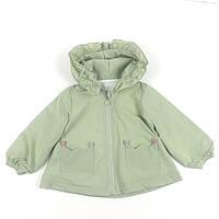 Куртка дитяча вітровка для дівчинки, зелена, вертовка  для девочки зеленая, фото 1
