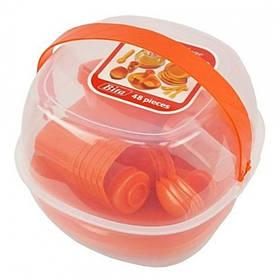 Набір пластмасового посуду для пікніка 48 предметів Bita