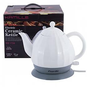 Чайник электрический керамический 1.2 л Kamille КАМ-1726