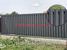 Штакетник 130мм мат. 2х ст. 7024 евроштакектник штахет, фото 3