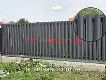 Штакетник 130мм мат. 2х ст. 8019 евроштакетник штахет, фото 3