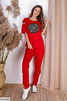 Стильный летний спортивный костюм с футболкой размеры 48-54 арт 5058