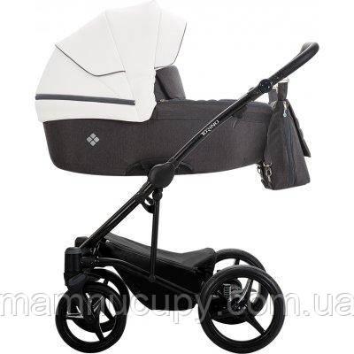 Детская универсальная коляска 2 в 1 Bebetto Torino 01 Серый - Графит / Черная рама