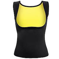 Майка с открытой грудью для похудения Yoga VEST размер XXXL черная