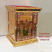 Облачение на Жертвенник храмовый с декором за стеклом