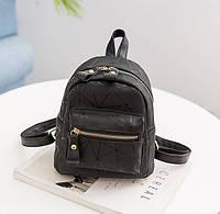 Модный женский маленький рюкзак Черный