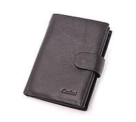 Мужской кожаный кошелек черный, портмоне Cardinal