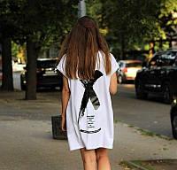 Платье летнее легкое оверсайз в стиле Офф-Вайт. Платье футболка летнее OFF White